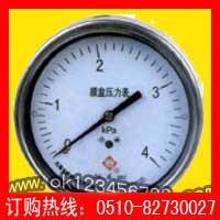长期优供不锈钢膜盒压力表系列(优质低价现货特供)