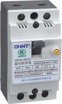 NB18L-63漏电断路器