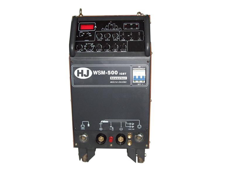 产品规格:WS-315/400/500 产品特点: 1、采用先进的高频IGBT逆变技术,可靠性高,效率高达86-88%. 2、动态特性优良,引弧容易,焊接过程飞溅小. 3、自动电网波动补偿功能----电网波动±15%不影响焊机输出参数. 4、焊线长度自动补偿功能,焊接电缆长度可从3米至100米. 5、氩弧焊为高频引弧方式, 6、整机采用三防处理,适合野外恶劣环境工作 7、配备水冷焊枪接头,方便接线.