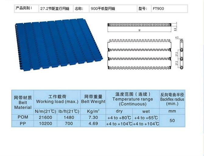 S900平板型网链