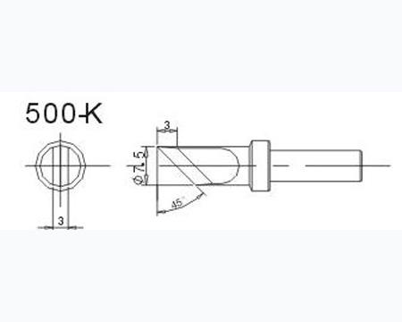 900m-t-1c白光无铅烙铁咀