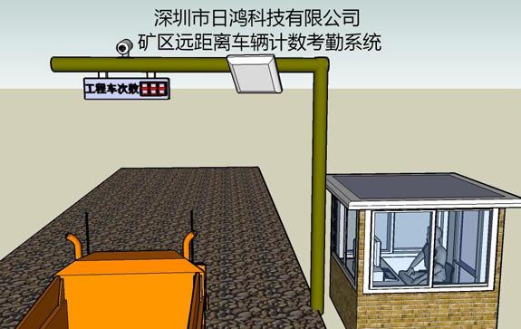 矿区远距离车辆计数考勤管理系统