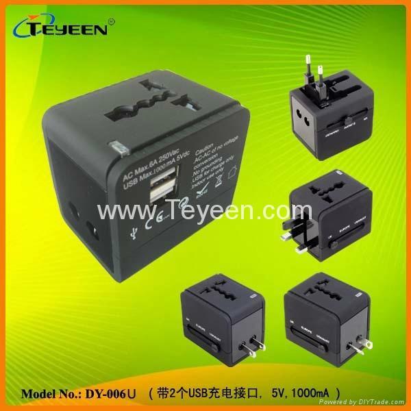 双USB旅行通用转换插座DY-006U 新款上市