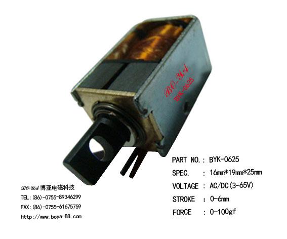 電磁鐵BYK-0629(用于打印機,打卡鐘)