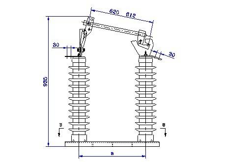 跌落式熔断器是配电线路分支线和配电变压器最常见的一种短路保护开关。它具有经济、操作方便、适应户外环境性强等特点,被广泛应用于配电线路和配电变压器一次侧作为保护和进行设备投、切操作之用。安装在配电线路分支上,可缩小停电范围。因其有一个明显的断开点,具有了隔离开关的功能,给检修线路和设备创造了一个安全作业环境,增加了检修人员的安全性。带拉负荷的跌落式熔断器,还配有弹性辅助触头和灭弧罩,用以分合额定负荷电流。 用途及执行标准: 本产品使用于10~35kV配电线路分支线和配电变压器一次侧,用于过载和短路保护,分合