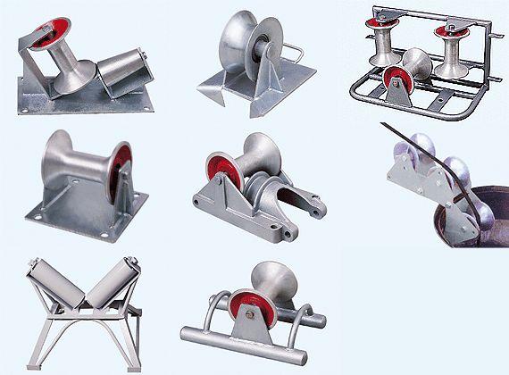 单轮固定式电缆保护孔口滑车,坑口电缆滑车