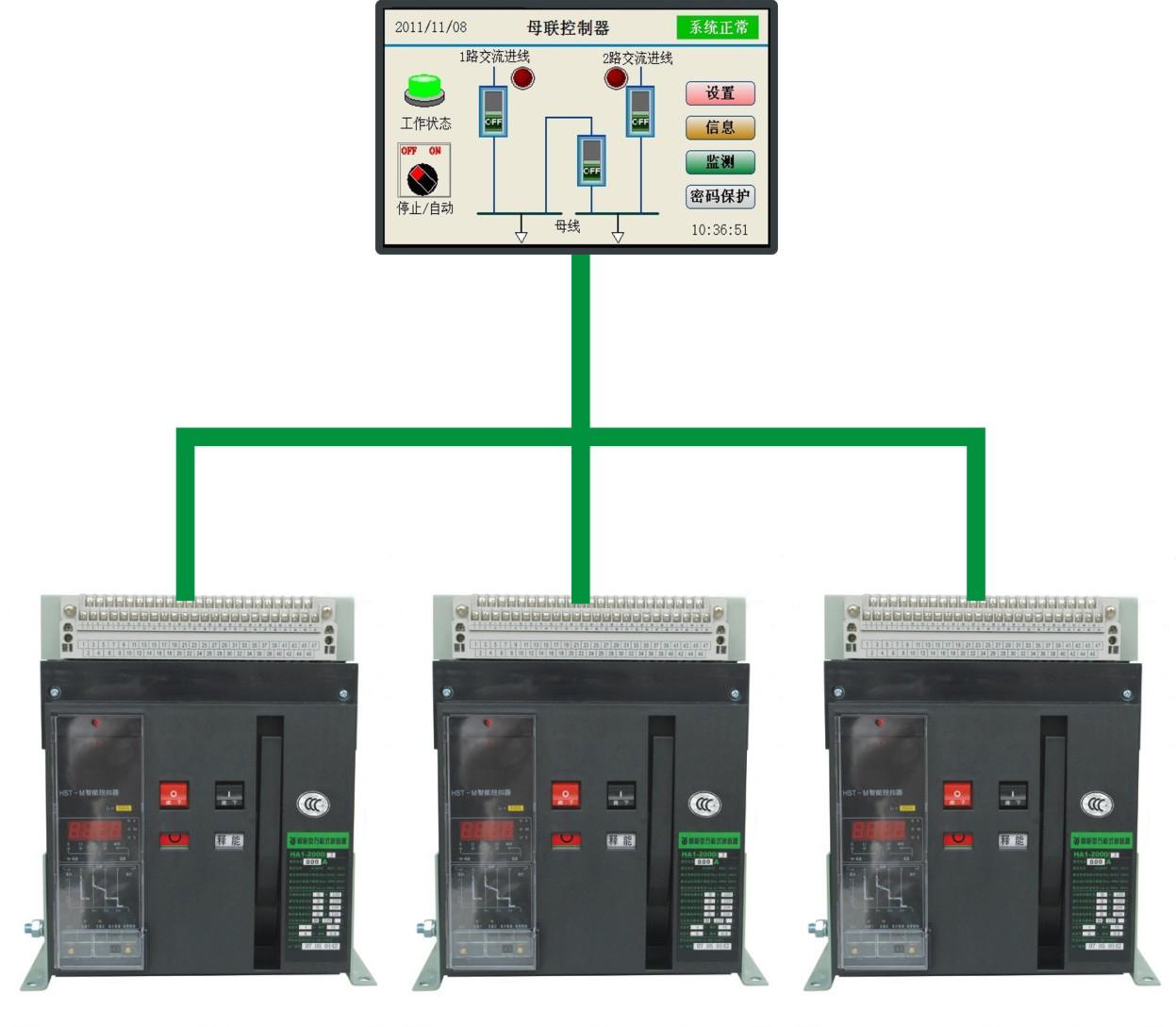 BQ6A触摸屏母线联络控制器