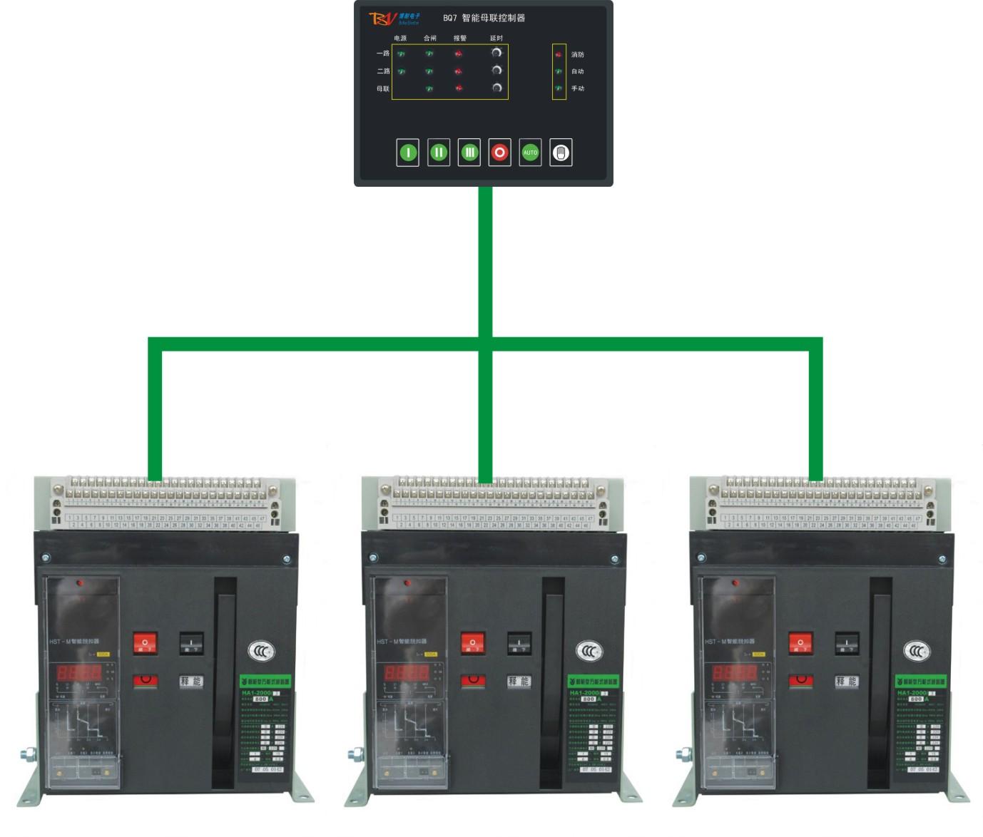 国内独家生产一体式母联控制器BQ7  不要外接三相保护器