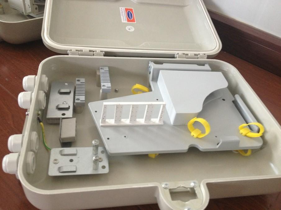 室外抱杆式二槽道SMC光缆分配箱
