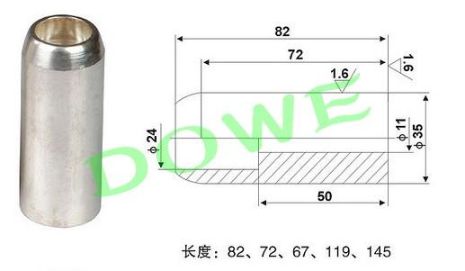 T2紫铜静触头 中置柜用630A静触头35*82厂家批发