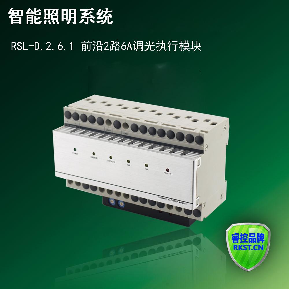 RSL-D.2.6.1  前沿2路6A调光执行模块 智能照明系统