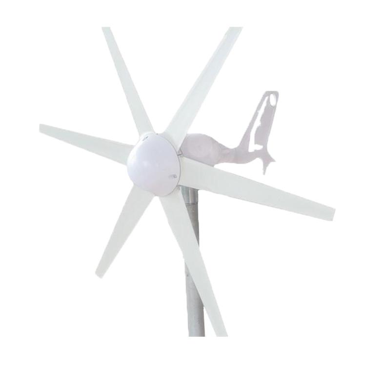 风光互补路灯家用6叶风力发电机微风启动风能发电机