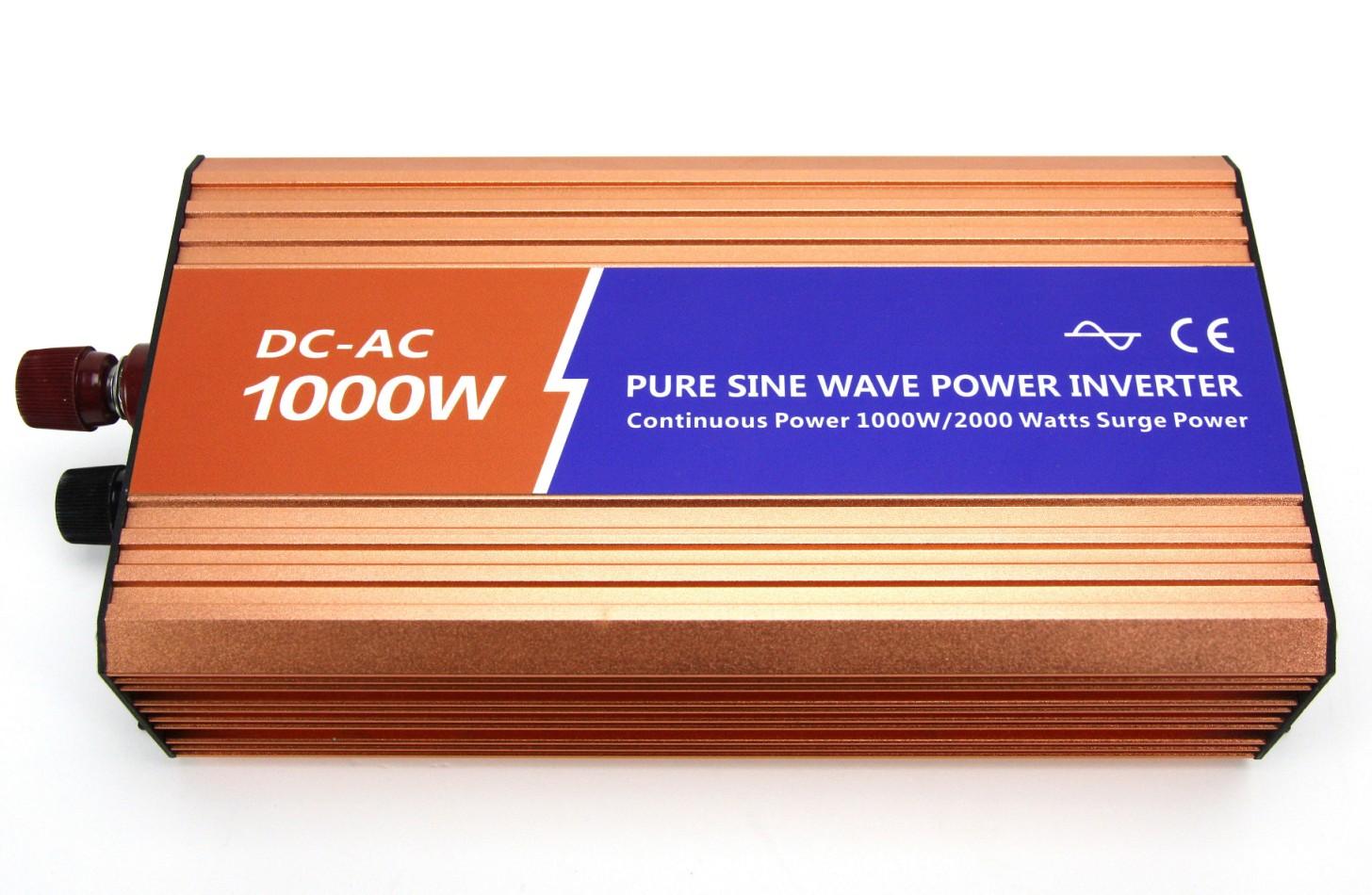 1000W纯正弦波高频大功率逆变器12V/24V/48V转220V1KW逆变器