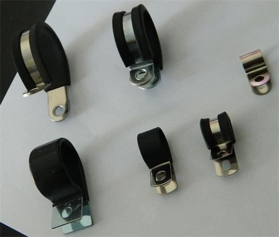 福莱通R型带胶条喉箍 电线电缆紧固夹