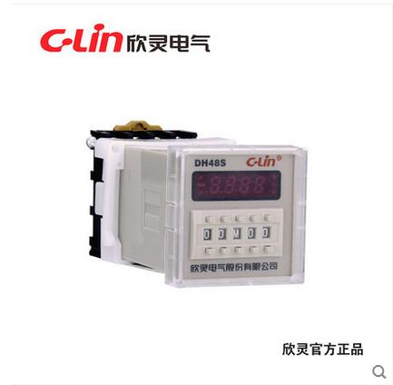 欣灵DH48S数显时间继电器通电延时定时器代JSS48A-1Z JS48S 220V