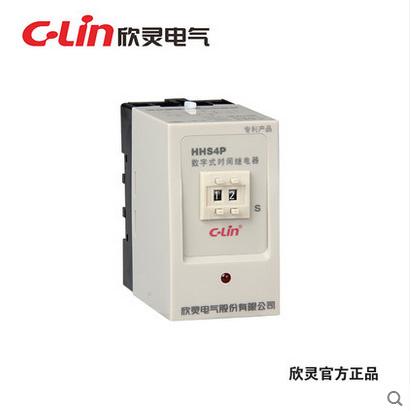 欣灵数字式时间继电器 HHS4P 99s AC380V 通电延时JS14P的改进款