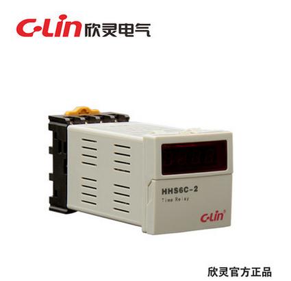 欣灵HHS6C-2 数显时间继电器 通电延时定时器AC220V