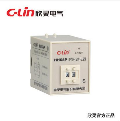 欣灵HHS5P数字式时间继电器1秒-99秒通电延时ST3P改进型 AC380V