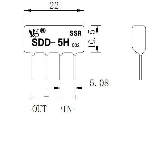 微型直流固态继电器sdd-5h
