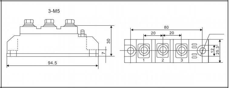 mtc90a1600v可控硅模块