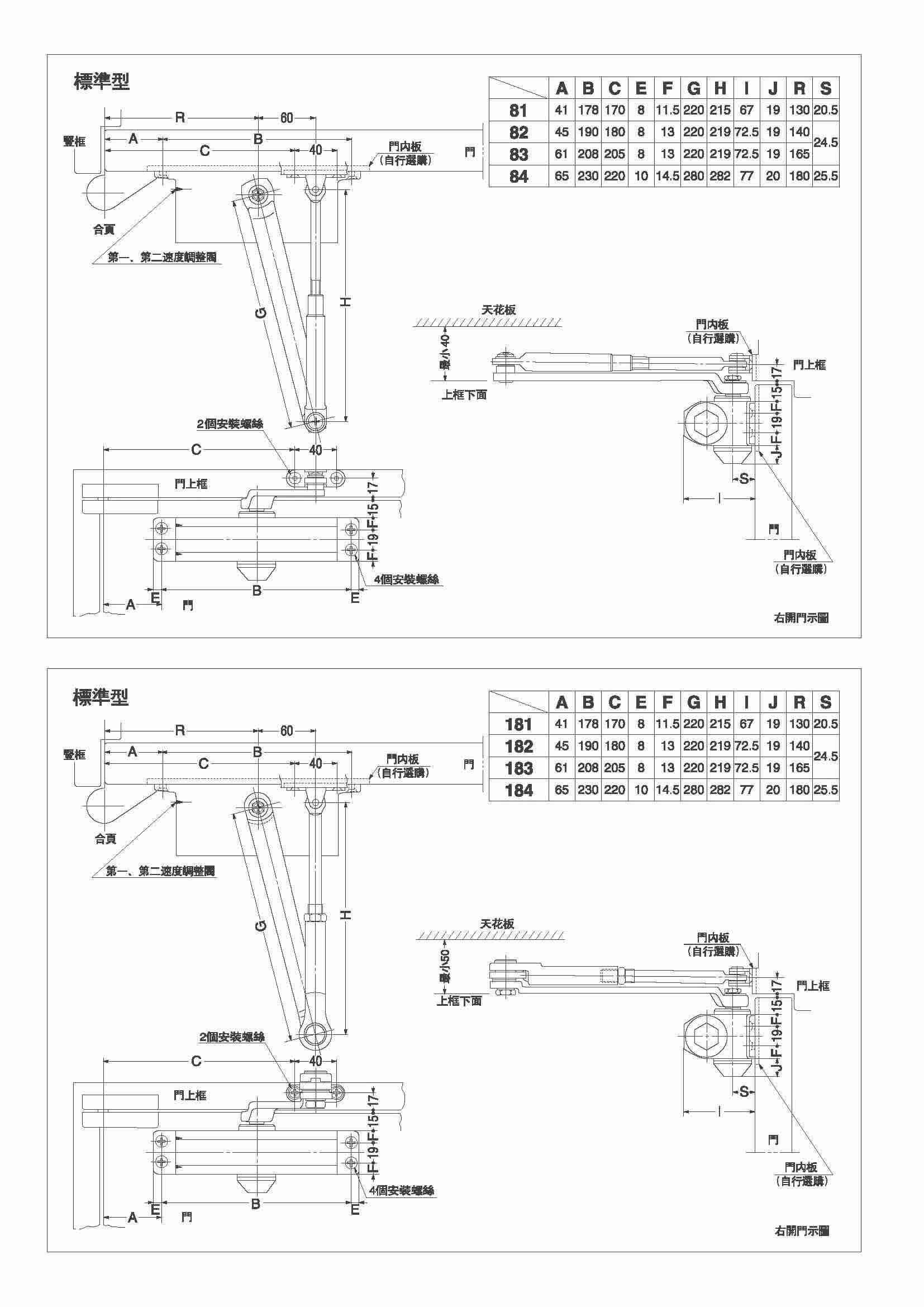 日本newstar闭门器