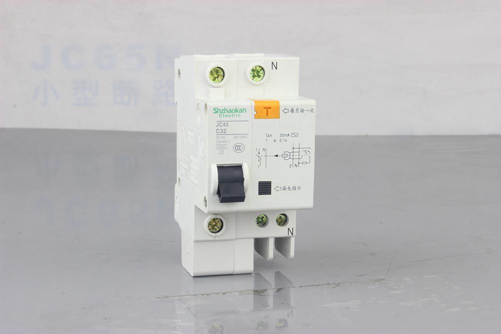 jc45n c类照明保护型上海施耐德小型断路器 dz47n 正泰小型断路器开关