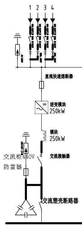 低压光伏防雷器,光伏电涌接线图